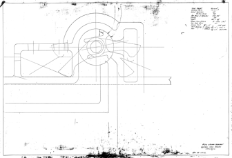 """the design of the valve, trip (cam) system and the steam chest was at the heart of every Vulcan hammer. Below is a layout of the """"00"""" hammer dated 16 January 1912. Unfortunately that hammer size didn't quite get off of the ground, and Vulcan would wait nearly twenty years before producing a hammer of that size."""