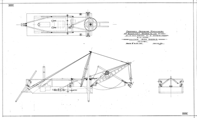 A dredge proposal for Schweikart Dredging Company in Detroit, 8 April 1901. This is a two cubic yard dipper, larger than many of those previously shown.