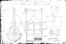 Not all of Vulcan's dredges were used strictly in a backhoe/dipper mode. Below is a clamshell dipper, dated 28 February 1890.