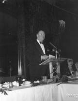 Homer Livingston, President of the First National Bank of Chicago, giving his own speech. Vulcan was one of First National's first customers, a relationship that would survive Vulcan's relocation to Chattanooga until the late 1970's.