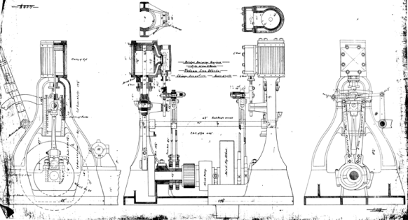 Bridge swinging engines dated 24 January 1887. To swing a bridge required motive power, and at the time the steam engine was the power source of choice.