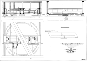 Another proposal, this time for a turntable and operating machinery for a plate girder draw span for a bridge across Smith's Creek in Norfolk, VA, dated 23 December 1898. The bridge was located in what is now part of the Ghent historical district.