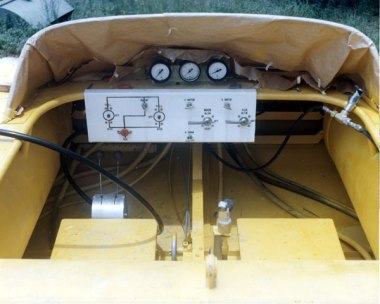 The helm and controls of the CAV.