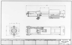 """Vulcan produced a fair number of proposed sizes for its offshore hammers. It was frequently difficult to keep up with its customers' demand for new sizes, in part because the size requirements could change during the development of a hammer size. One hammer that did not get built was the 430; this drawing dates from 1976. With the 560 five years earlier, Vulcan broke out of the 3' stroke restriction and never looked back with its offshore hammers. The 430 """"split the difference"""" with a 4' stroke, a common stroke with some lines of hydraulic hammers. Two years later the 530 (and later the 520 and 535) appeared in Vulcan's line. One big difference was the cables: this hammer put them to the top of the hammer like the 3' stroke hammers, while the later hammers went only to the steam chest."""