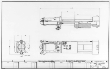 "Vulcan produced a fair number of proposed sizes for its offshore hammers. It was frequently difficult to keep up with its customers' demand for new sizes, in part because the size requirements could change during the development of a hammer size. One hammer that did not get built was the 430; this drawing dates from 1976. With the 560 five years earlier, Vulcan broke out of the 3' stroke restriction and never looked back with its offshore hammers. The 430 ""split the difference"" with a 4' stroke, a common stroke with some lines of hydraulic hammers. Two years later the 530 (and later the 520 and 535) appeared in Vulcan's line. One big difference was the cables: this hammer put them to the top of the hammer like the 3' stroke hammers, while the later hammers went only to the steam chest."