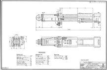 """Vulcan rectified many of the weaknesses of the pencil/vellum system around 1970 with two changes: it went to mylar drawings, which were expensive but lasted longer, and went from a plain graphite pencil to a """"grease"""" pencil for darker lines and better reproduction. A nice example of this is the general arrangement of the 520 hammer, shown below, from 1982."""