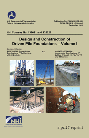 Driven Pile Manual Volume 1a