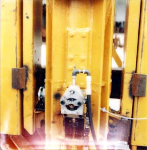 A close-up view of the LPG hammer, West Palm Beach facility.