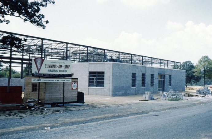 The Chattanooga plant under construction. Below is the office, with the assembly/machining/warehouse bay behind it. Cunningham-Limp was the designer and contractor; they designed the plant expansion twenty years later.