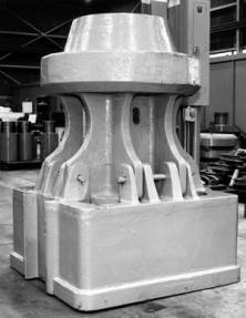 A pedestal driving head, on the floor at the Chattanooga Facility.