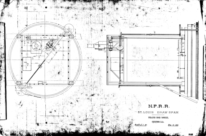 St. Louis Draw Span for the N.P.R.R., 14 May 1891.