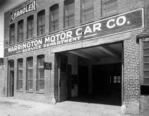 "After graduating from Lehigh in 1912, Chester formed the Warrington Motor Car Co., with offices at 2035 17th St. N.W.. It became the Cord-Auburn-Duesenberg dealership in Washington, DC, along with a dealer for Stinson and Davis aircraft. The car line was one of the most exciting in its day, especially the Duesenberg, which was really a ""Doozy."" In 1921-22 he was Board Chairman of the Washington Area New Auto Dealers Association. Unfortunately the Depression ended many good car manufacturers, and Cord-Auburn-Duesenberg's demise no doubt contributed to Chet's decision to return to Chicago to direct Vulcan in 1940. Chet was also an automotive engineer in his own right; in 1922 he and his father George were granted a patent on ""Timing Devices for Hydrocarbon Engines"" (U.S. Patent 1,418,996.)"