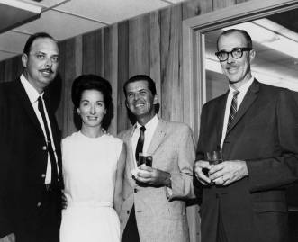 Ken Wiggs of Wiggs and Maale and his wife on the left, with my father Henry Warrington on the right.