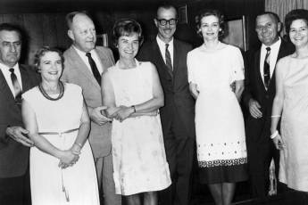 The hosts and the guests at the open house. My father, Henry Warrington, is fourth from the right, and to his right is Vernell Warrington, Sam Karrh and his wife. Sam was Vulcan's Sales Manager in the 1960's and 1970's.