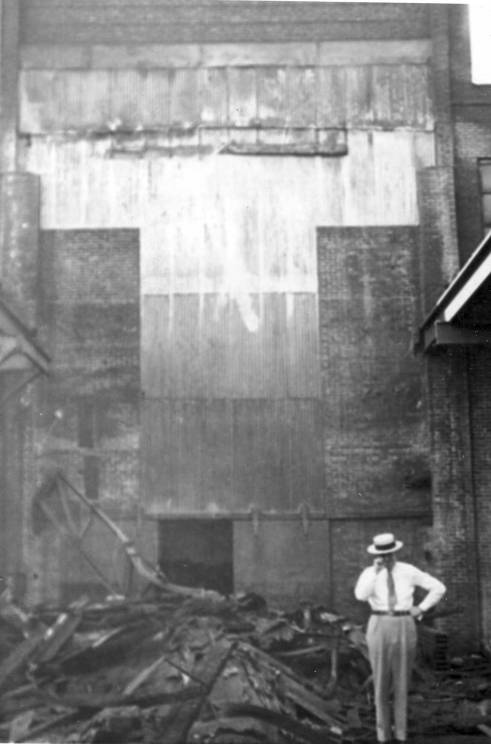A view of what's left of the foundry after it was torn down.
