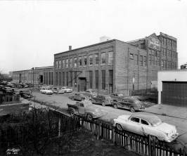 A street view of Vulcan's facility at 327 North Bell Avenue, taken at the time of the company's centennal in 1952.
