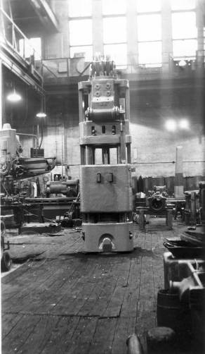 A floor view of a Super-Vulcan hammer at the 327 North Bell facility.