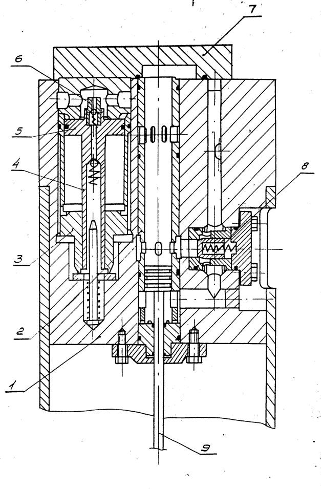 Figure 2 Working Cylinder 1) Casing 2) Sleeve 3) Accumulator Bushing 4) Accumulator Rod 5) Piston 6) Check Valve 7) Lid 8) Check Valve 9) Piston Rod