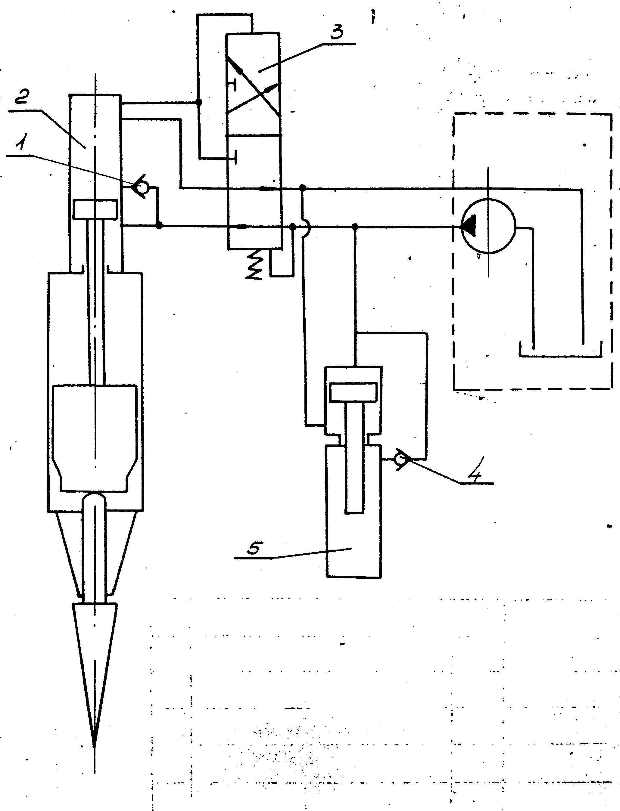 russian hydraulic demolition hammers vulcanhammer info Nitrogen Accumulator figure 6 hydraulic schematic of demolition hammer 1 check valve 2 working cylinder 3 control valve 4 check valve 5 fluid spring